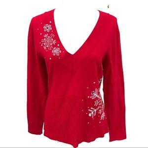 Boston Proper Christmas Sweater.  8️⃣